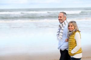 attractive-mature-couple-beach