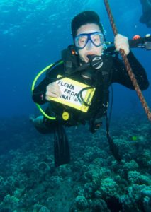 Long Tran, Client Advisor, scuba diving