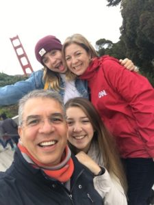 Claudia Arnold-Sawaf and family in San Francisco