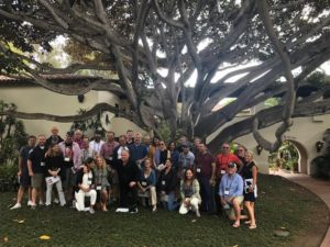 Visioning exercise under a fig tree at the Four Seasons Resort The Biltmore