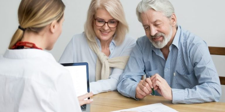 couple reviewing estate planning documents