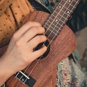 Renee Hennesee, Director of Technology on the ukulele