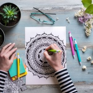 Adult Coloring- 4 Self-Care Tips for Coping with Coronavirus Quarantine - Mission Wealth