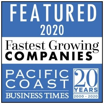 Pacific Coast Business Times Fastest Growing Companies 2020