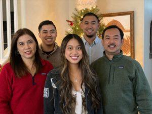 Martina Mendoza and her family